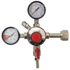 Fermentap CO2 Regulator Dual Gauge Chrome