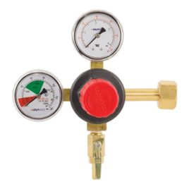 TapRite Dual Gauge Regulator Brass