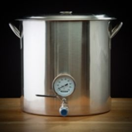 BSG Brewing Kettle With Valve And Thermometer 32 Qt
